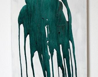 ink illustration on wood