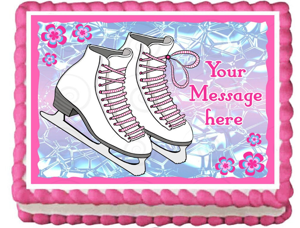 ice skates cake topper