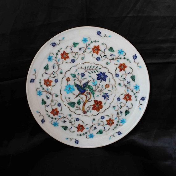 Marble Inlay Plates / Home Decorative Wall Plate / Pietradura