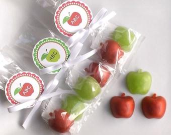 10 Apple Favors - Apple Party Favors, Apple Teacher Gift, School Favors, Class Favors, Apple Soap