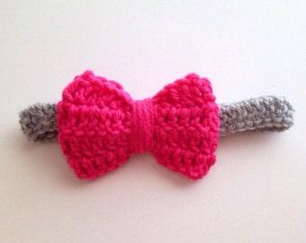 Baby Crochet Bow Headband