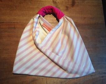 Pink Candy Stripe Tote Bag