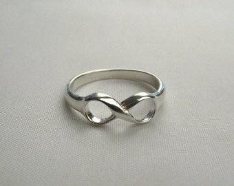Mobius Sterling Silver Infinity Ring, Mobius Ring, Infinity Ring, Silver Infinity Ring