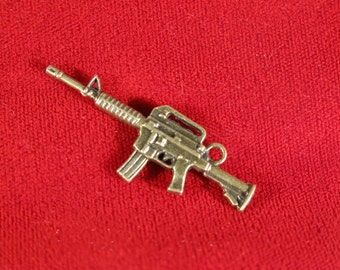 """Large! 5pc """"rifle"""" charms in antique bronze style (BC291)"""
