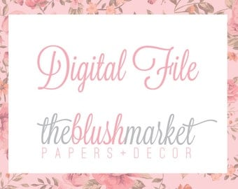 Digital File Customized with Your Details