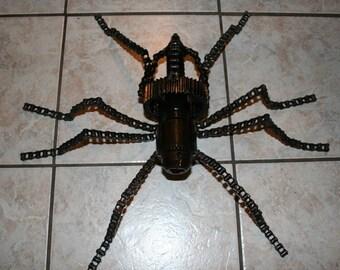 Metal Spider...recycled art...metal art