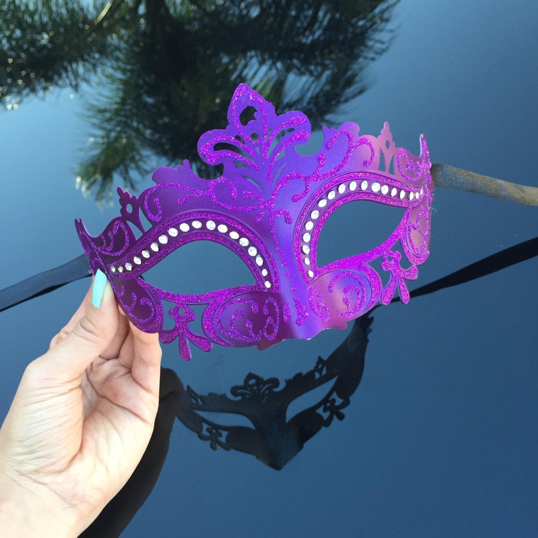 On Sale Masquerade Mask Royal Purple Mask Rhinestone by ... - photo#2