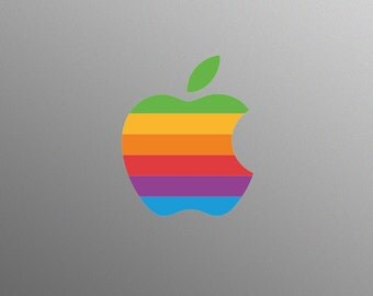 Retro Apple Logo Decal Laptop Sticker for Apple MacBook / Pro / Air