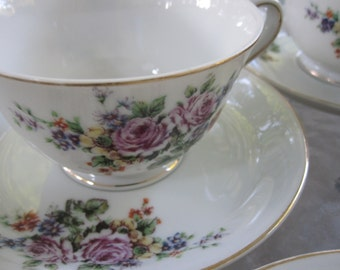 28 Piece Vintage 1930's Made in Japan Floral Dinnerware Set for 4 Best Quality A China