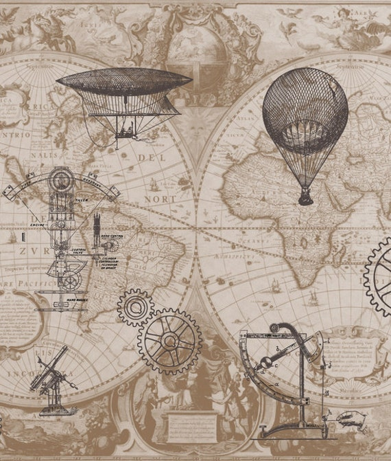 steampunk map wallpaper - photo #33