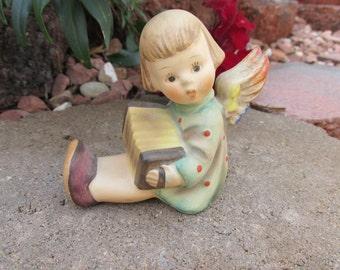 "Hummel Figurine - ""Joyous News - Angel with Accordion"" - Candle Holder - Vintage"