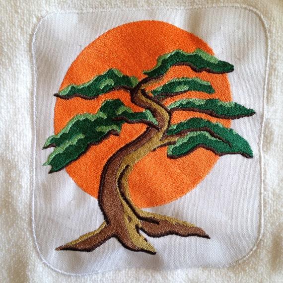 Karate Kid Bonsai Tree Logo Iron On Kids