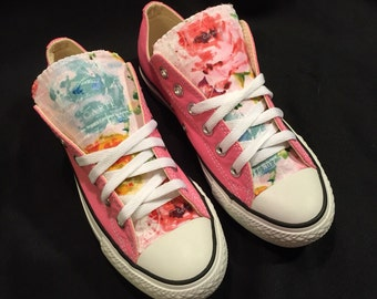 Floral Pink Converse Chuck Taylor All Star Shoes