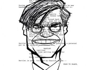 Aaron Sorkin Screenplay Portrait (The West Wing)