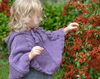 Knitting Patterns For Ponchos For Toddlers : Knitting Pattern - Temptation Poncho and Hat Set (Toddler ...