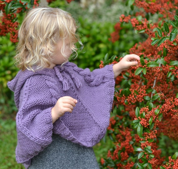 BABY KNITTING PATTERNS baby poncho cabled poncho pdf