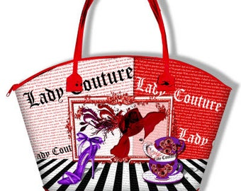 La Red Hat Lady Couture Tote Bag