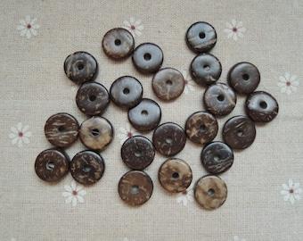 30Pcs 15mm Round Coconut   bead (W988)