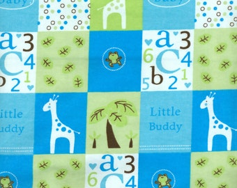 Baby Boy Flannel Fabric - Sold by the 1/2 Yard