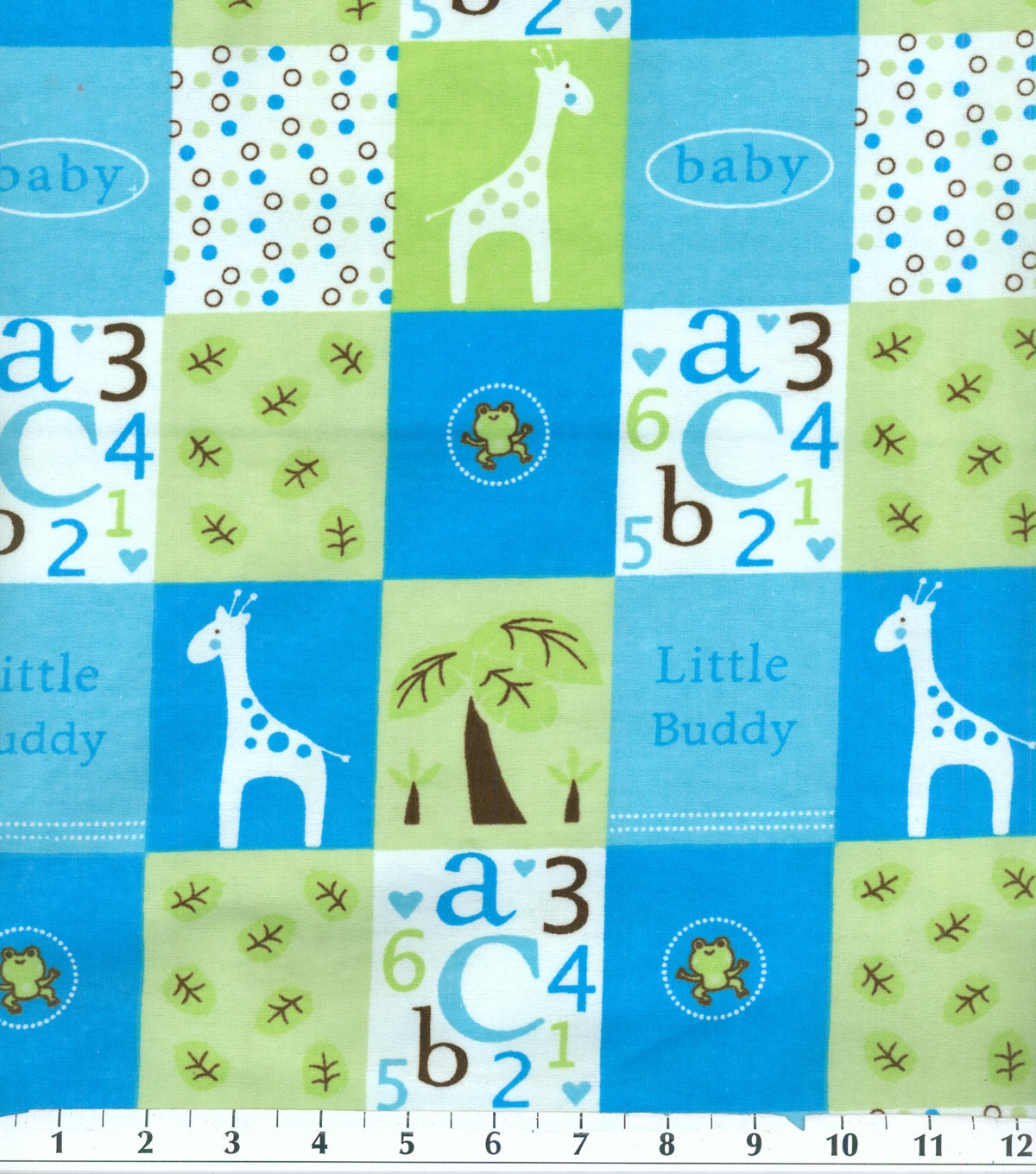 Baby Boy Flannel Fabric Sold by the 1/2 Yard