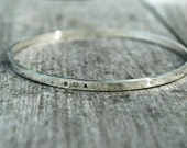 Personalised Silver Hand Stamped Bangle