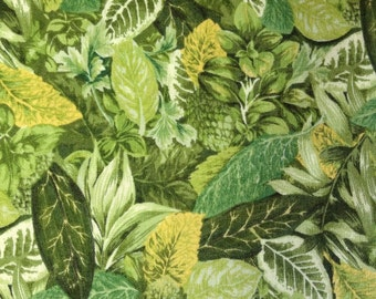 One Half Yard of Fabric Material - Packed Herbs