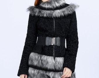 "Faux fur coat ""Fantom"""