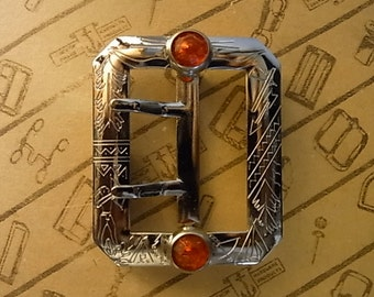 """No.1002J 1930's Reproduction Buckle 1 3/4"""" for Studded Jeweled Western Belt"""