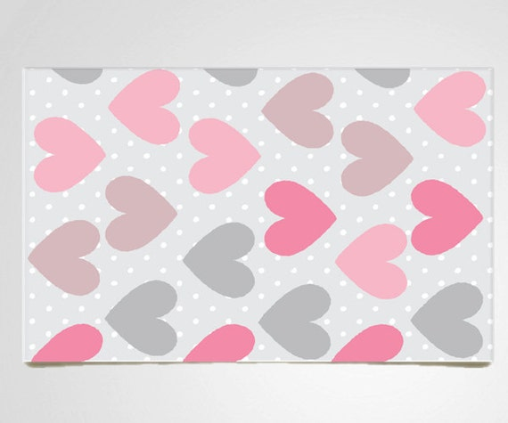 Nursery Area Rug Polka Dot Rug Pink Nursery Rug By
