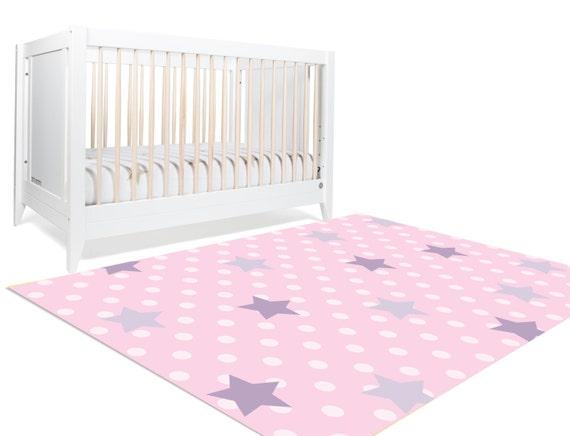 nursery floor rug polka dot rug girls room by hawkerpeddler. Black Bedroom Furniture Sets. Home Design Ideas
