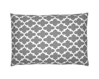 Grid Fulton grey white cushion cover 40 x 60 cm