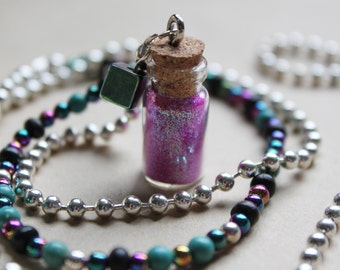 Glitter Galaxy - Bottled Necklace