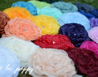 Match to your tutu: extra SET of FABRIC FLOWERS of any color