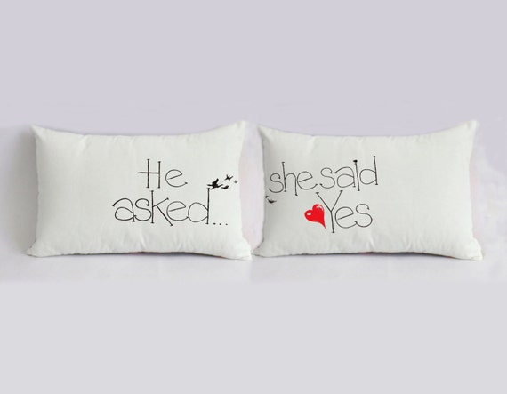 Wedding Gift Sets For Couples : unique wedding gift for couple, custom couple bedding pillow sets ...
