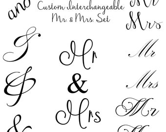 INSTANT DOWNLOAD Mr and Mrs Word Art Overlays and Free Gift for Photography, Digital Scrapbooking, Card Making, Printing and Much More!