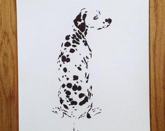 Dalmatian Print - fine art print of original ink drawing