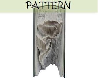 Book folding Pattern: ROSE design (including instructions) – DIY gift – Papercraft Tutorial