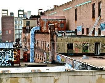 Rooftop Graffiti, Philadelphia, PA