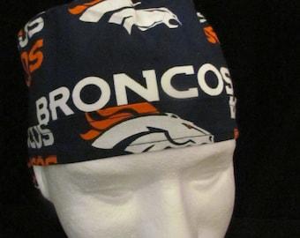 Denver Broncos NFL Football Colorado Tie Back Surgical Scrub Hat