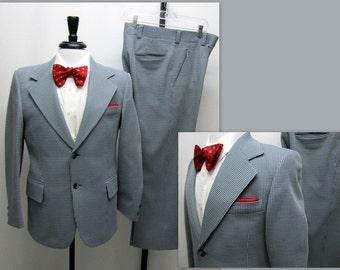 Vintage 60s Mens Suit, 60s Sears Suit, Anchorman Suit