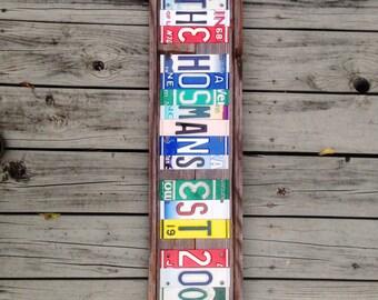License plate letter etsy for Custom license plate letters