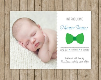 Custom birth announcement- digital file 5x7