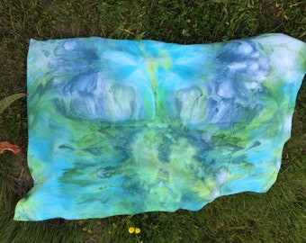 Ice dyed tie dye receiving blanket cotton flannel baby blanket