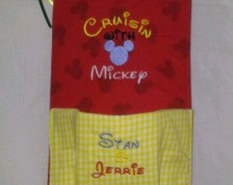 Custom Made Pocket Fish Extender Disney Cruise Embroidery Many Prints
