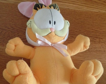 Vintage Garfield the Cat dressed as an Easter Bunny.