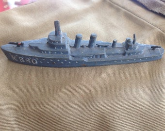 Vintage WW2 Lead Identification Ship Destoyer Nice Detailing Painted