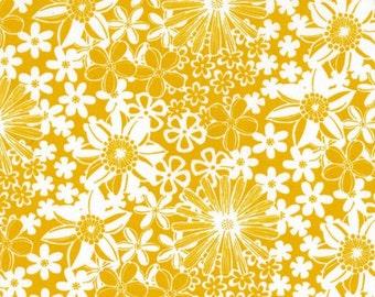 1/2 Yard - The Linen Cupboard - TE 2022 Y - Grace Yellow - Emma Jean Jansen - Ella Blue Fabrics - Fabric Yardage
