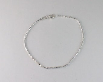 Sterling Silver 1 1mm Cable Chain Dainty Chain by SilverCharmsInc