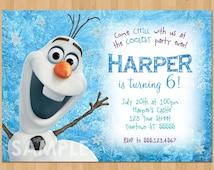 Olaf Invitation - Frozen Olaf Birthday Invitation - Printable Frozen Invitation - Disney Olaf Invite - Frozen Boy Birthday Party Invitation