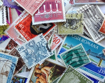 30 Assorted World Postage Stamps